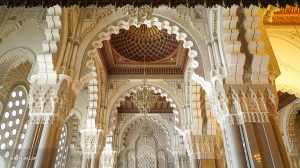 It took 6,000 Moroccan artists six years to finish the designs of the mosque.