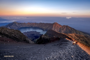 Our intrepid bassist also goes mountain climbing. Mt Rinjani, an active volcano on the island of Lombok, Indonesia, is 3,726 meters (12,224 feet) above sea level. No matter, TK is up to the challenge.