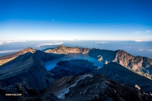 At the summit of Mt. Rinjani.