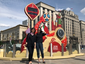 Celebrating the 2018 FIFA World Cup with Mom—at the Kremlin!