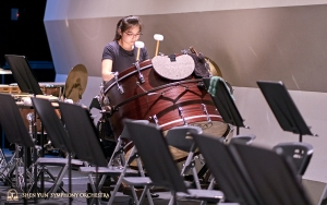 Percussionist Jazmine Jia's bass drum practice session.