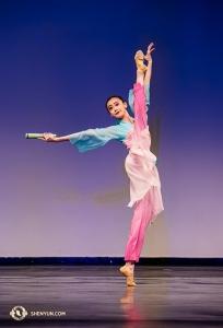 Carol Huang, inspirée par un poème de la dynastie Tang : « l'Eveil du Printemps », gagnante ex-aequo de la médaille d'or, catégorie Juniors Femmes.