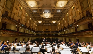 The grandeur of Boston Symphony Hall captured during rehearsal with soprano Haolan Geng.