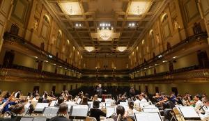 Die Pracht der Boston Symphony Hall wurde während der Probe mit der Sopranistin Haolan Geng eingefangen.