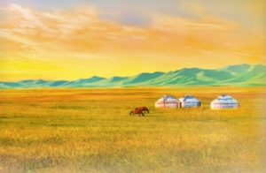 Mongolian Grasslands Backdrop Thumb