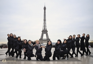 Paris native Madeline Lobjois (immediately left of center) and the dancers of Shen Yun International Company give you La Tour Eiffel!