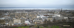 From the fortress high up on Castle Rock, a bird's eye view of Edinburgh. (Photo by Annie Li)