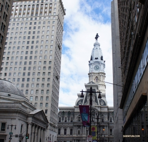 A view of Philadelphia's City Hall on the way to Brazilian barbecue. (Photo by Jess Gao)