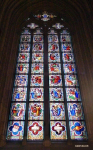 Germany's most visited landmark has beautiful stained glass.