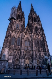 The Cologne Cathedral and its towering, twin spires.