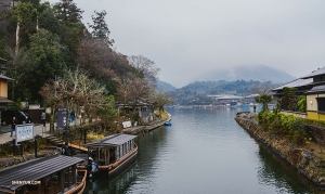 The serene vista by Kyoto's Hozu River, in Japan. (Photo by Michelle Wu)