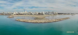 A panoramic view of the waterfront in Montpellier, France. (Photo by Andrew Fung)