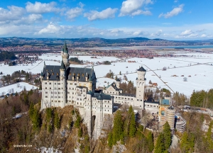 Neuschwanstein Castle! This historic European landmark is sometimes called the fairytale palace. It inspired the Walt Disney castle.