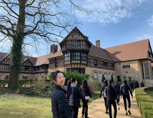 Meanwhile, Principal Dancer Melody Qin and Shen Yun New York Company check out the historic buildings and park area at Neuer Garten in Germany. (Photo by Principal Dancer Angelia Wang)