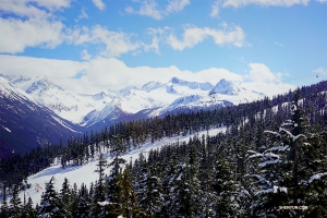 A view of Whistler Mountain. (Photo by dancer Edwin Fu)