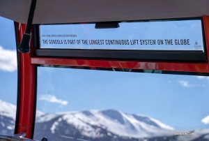 Not just the highest, it is also part of the world's longest lift system, connecting two high-speed chair lifts and one gondola.