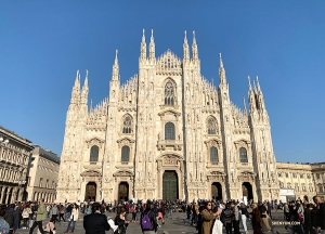 Then off to Milan! The Milan Cathedral, one of the largest in the world, took six centuries to complete. (Photo by Angelia Wang)