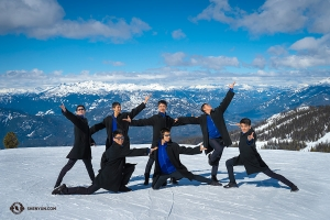 Dancers pay tribute to the vastness of space from the summit of Blackcomb Mountain, almost 8,000 ft up.