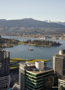 The adventurous day ends with a delicious dinner at Top of Vancouver Revolving Restaurant. (Photo by Edwin Fu)