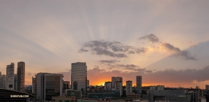 William Li's photo of the picturesque Mexico City sunset.