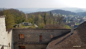 From the highest lookout you can see the rooftops of Hadsburg village below.