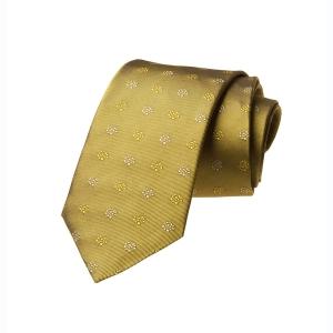 Tang Blume - Seidenkrawatte Gold