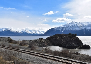 Dancers are delighted by a scenic bus ride along Alaska's snow-capped mountains! (Photo by dancer Emily Pan)