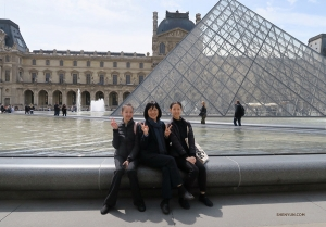 And when in Paris, you naturally have to visit the Louvre. (Photo by Angelia Wang)