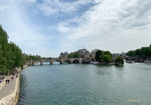 The calm waters of the River Seine.