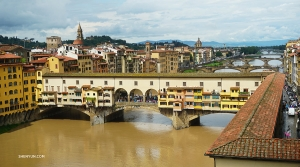 In Florence dancer Kexin Li captured the iconic Ponte Vecchio bridge.