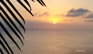 The sun sets on another beautiful day in Tenerife.