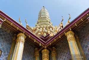 She also visited Bangkok's Grand Palace...