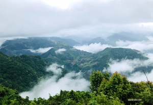 他還去了台灣有名的清境農場,隱身於海拔1750公尺的深山雲海中,真是一個避暑的好去處呢!