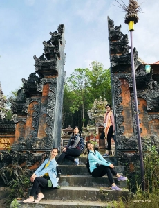 Clockwise from top, dancers Diana Teng, Xindi Cai, Sophie Xie, and MC Ashley Wei treated themselves to a holiday in Bali, Indonesia.