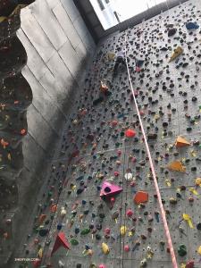 迪士尼遊覽結束之後她又挑戰攀岩,她說:「不難⋯⋯」。你們相信嗎!?