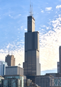Chicagos Willis Tower, en gång världens högsta.