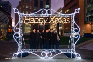 Season's greetings from Birmingham, U.K., where all performances are completely sold out. (Photo by dancer Tony Xue)