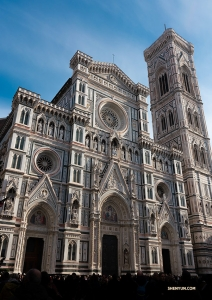 It's hard to look away from the elaborate facade of Florence's cathedral.