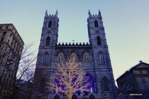 Bonjour Montreal, Canada! Performers visit the Notre-Dame Basilica on New Year's Day before their first performance at the Place des Arts - Salle Wilfrid-Pelletier. (Photo by Jack Han)