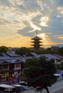 Yasaka-pagoden i skymningen.   (Foto: dansaren Felix Sun)