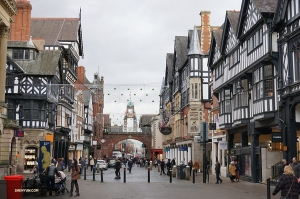 On a travel day in England, from Liverpool to Woking, performers stop in Chester, a little town once voted by Americans 'Europe's fifth prettiest city.' (Photo by dancer Kexin Li)