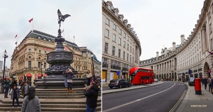 Piccadilly Circus on the left (no wild animals here,