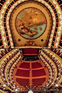 Whether you look up or down, there's something pleasing to the eye at this theater. (Photo by Rachael Bastick)