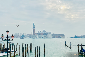 Venice as seen from across the sea. (Photo by soprano Rachael Bastick)