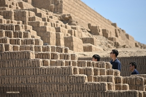 The huge mud brick structure was used for rituals and food storage.