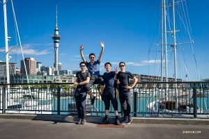 Dancers discover why Auckland  is known as the 'City of Sails.'