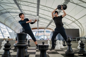Life size chess can be a bit dangerous sometimes.
