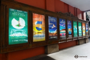 Shen Yun arrives at Sydney's Capitol Theater to find a showcase of Shen Yun posters past and present. (Photo by Jeff Chuang)